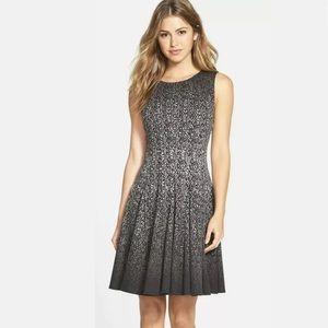 Eliza J Fit Flare Dress Black Ombre Sleeveless